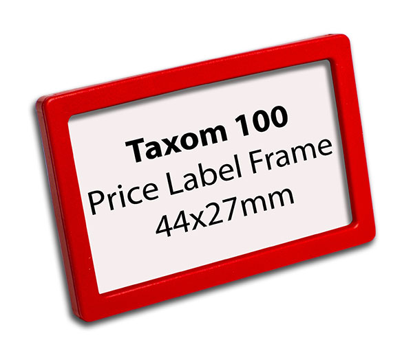 Taxom 100 Price Label Frame 44x27mm – Taxom.com