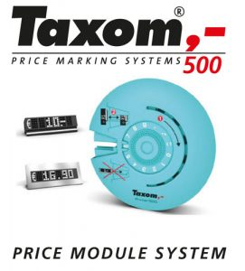 Taxom 800 Pricecube Preisauszeichnung, Juwelier Trafik Shop