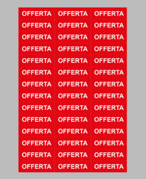 "3 Taxom 800 Price Label Sheets 52x17 ""OFFERTA"""